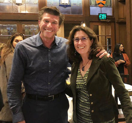 BASSC EDP Coordinator Andrea DuBrow and Andrew Stewart, Staff Development Program Manager for Santa Cruz County Human Services Department, at an EDP graduation ceremony